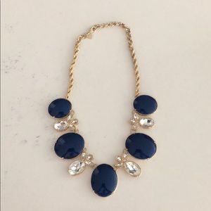Navy blue and gold necklace